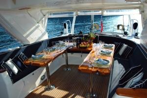 Yacht, eau, vague, voilier, bateau, intérieur, luxe