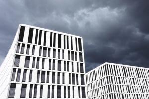 sky, design, architecture, building, exterior, facade, glass, windows, business, city