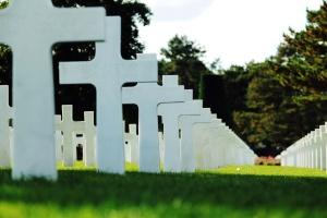 Hierba, cementerio, cementerio, cruz