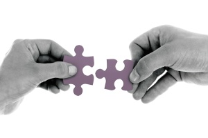 puzzle, pieces, symbol, connect, hand, jigsaw