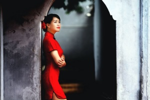 wall, woman, asian, fashion, girl, lady