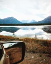 Reflejo, espejo, agua, niebla, lago, montaña