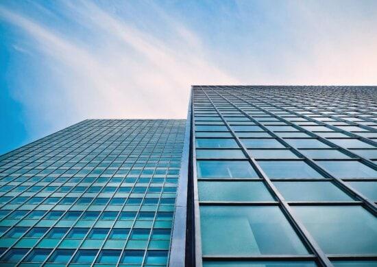 Fenster, architektur, gebäude, außen, glas, zeitgenössisch