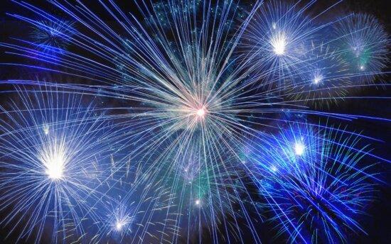 fireworks, art, midnight, night, light
