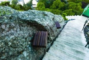 σκάλες, πέτρα, καλοκαίρι, δέντρο, πάγκος, φράχτη