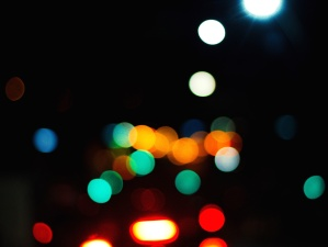 dark, lights, colors, night