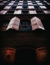 architecture, building, exterior, facade, windows