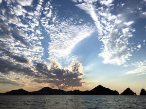 modrá obloha, mrak, mraky, soumraku, horizont, krajina, příroda, příroda nebe, oceán, obloha