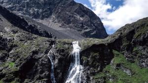 water, waterfall, landscape, mountain, nature, rocks