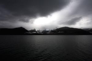 táj, víz, hegy, természet, a tenger