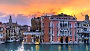 Italie, ville, architecture, bâtiments, canal, ville, eau