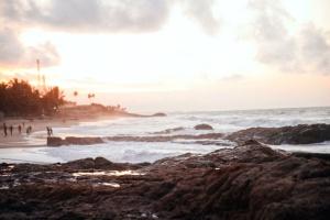 Brzeg, niebo, plaża, natura, ocean, Wybrzeże, skały