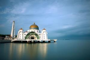 Moschee, außen, reise, architektur, gebäude, religion, meer, himmel