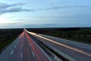 Paisaje, carretera, velocidad, tráfico, transporte, hierba, carretera