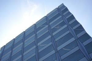 Reflexion, himmel, struktur, fenster, außen, architektur, gebäude