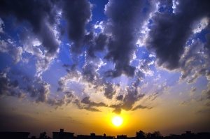 cloud, weather, sky, dusk, sun, nature, silhouette