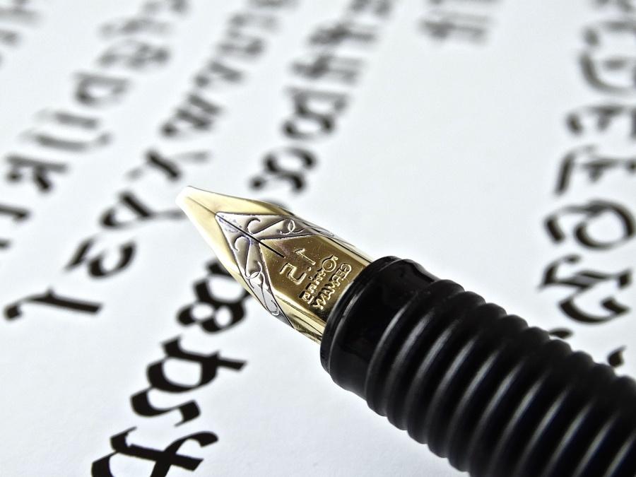 писма, хартия, текст, word, калиграфия, метал, мастило, перо