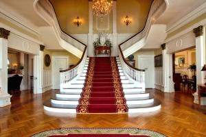 Design, escalier, architecture, lustre, élégant, meuble