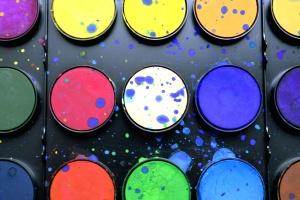 Colori, colorato, vernice, tavolozza di colori, acquerello, art