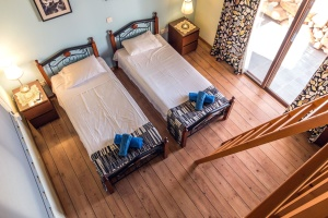 ladder, lamps, room, interior, furniture, rustic, bedroom