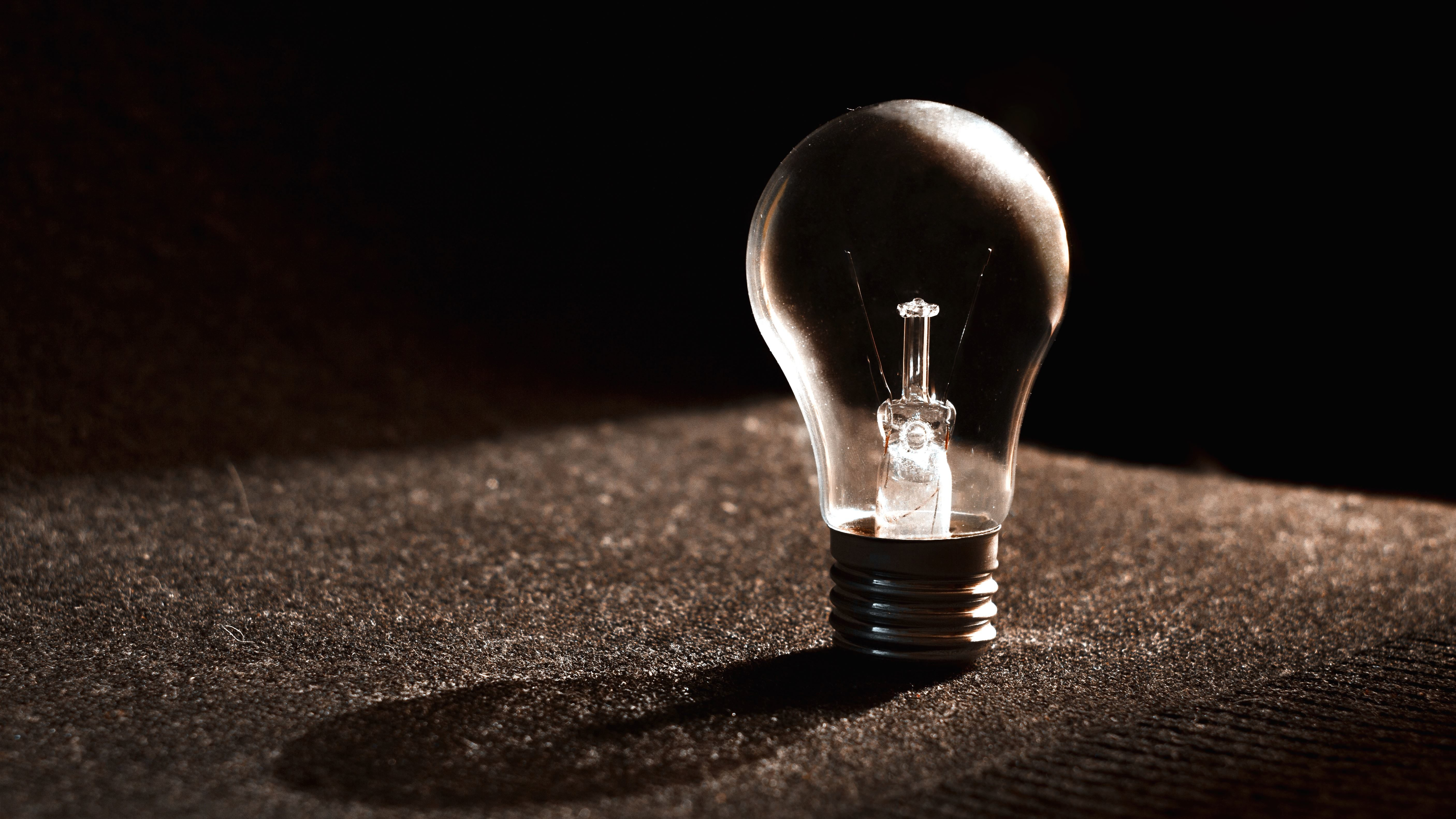 Free Picture Light Bulb Electricity Energy Focus