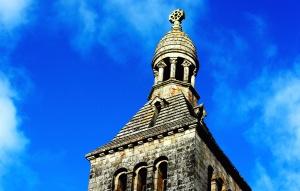 религията, църквата кула, небе, духовност, кула, древна, архитектура, сграда