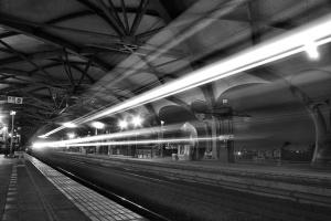 Ferrovie, ferrovia, treno, luce, stazione ferroviaria