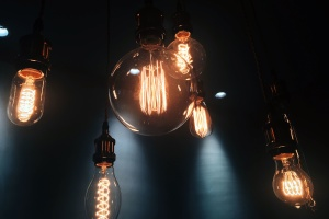 light bulb, electricity, energy, glass, dark