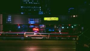 Traffico, trasporto, viaggiare, urbano, edifici, affari, automobili, città, luci