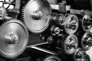 mechanism, metal, monochrome, steel, wheels, cogs, gears, industry, machine, mechanical