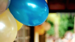 colorful, balloons, blue