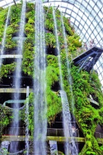водопади, флора, Ботаническата градина, пейзаж, растения, архитектура
