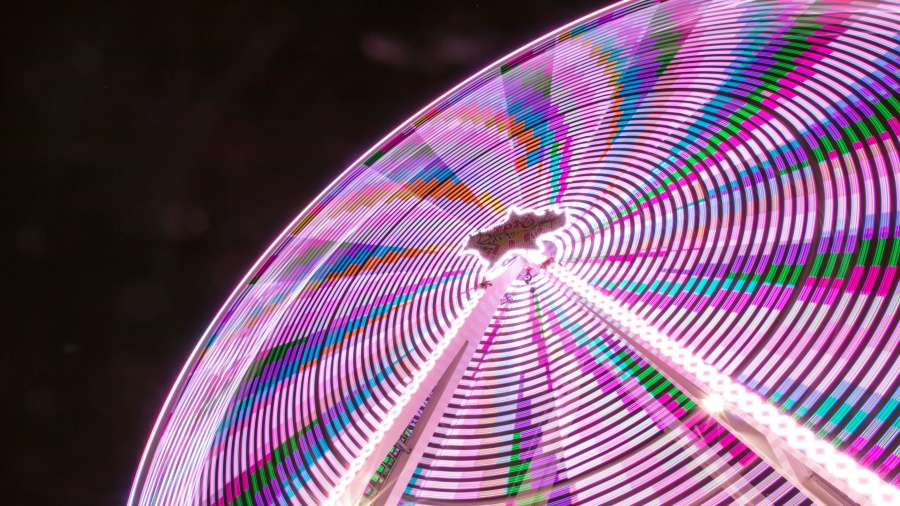 kleurrijk, creativiteit, abstract, amusement, nacht, patroon, regenboog, ritten