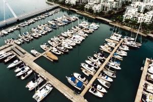 yacht, boats, dock, harbor, sea, water