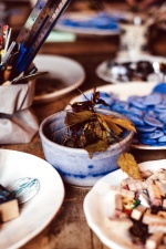 table, wood, focus, food, color, plate, bowl
