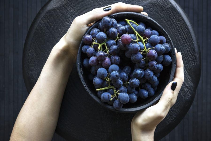 food, fruits, grapes, hands, health, bowl