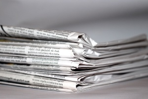 Journal, papier, tas, information, journalisme, nouvelles