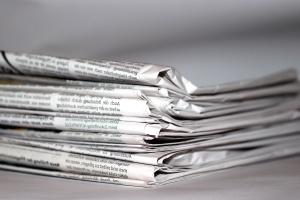newspaper, paper, pile, information, journalism, news