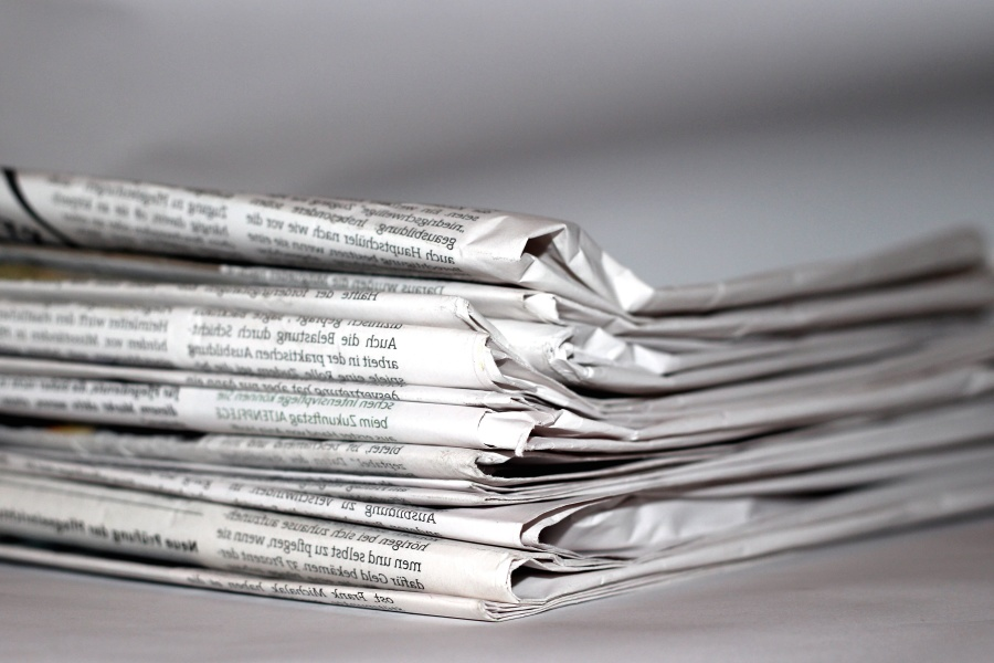 Giornale, carta, pila, informazioni, giornalismo, notizie