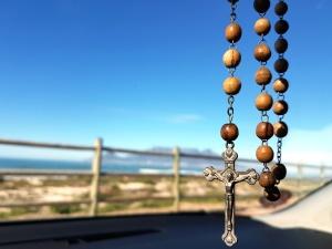 Religio, kreuz, geistig, symbol, hölzern, perlen