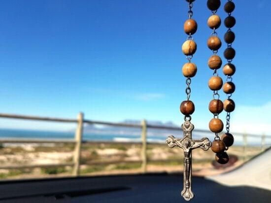 Religio, croce, spirituale, simbolo, legno, perline