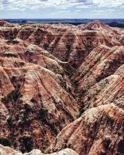 Naturaleza, arenisca, cañón, nubes, desierto, seco, geológico