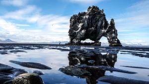 Île, ciel, eau, plage, nature, rochers, mer