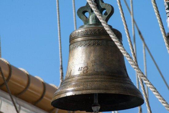 Corda, suono, antico, antico, campana, ottone, bronzo