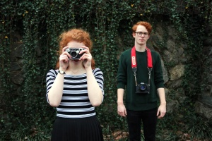 boyfriend, girlfriend, redhead,  photo camera, caucasian, man, people