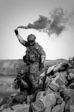 Esercito, deserto, estremo, fiamma, libertà, uomo, militare, persone, persona