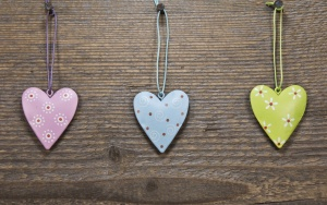 srdce, láska, dřevo, dekorace, design