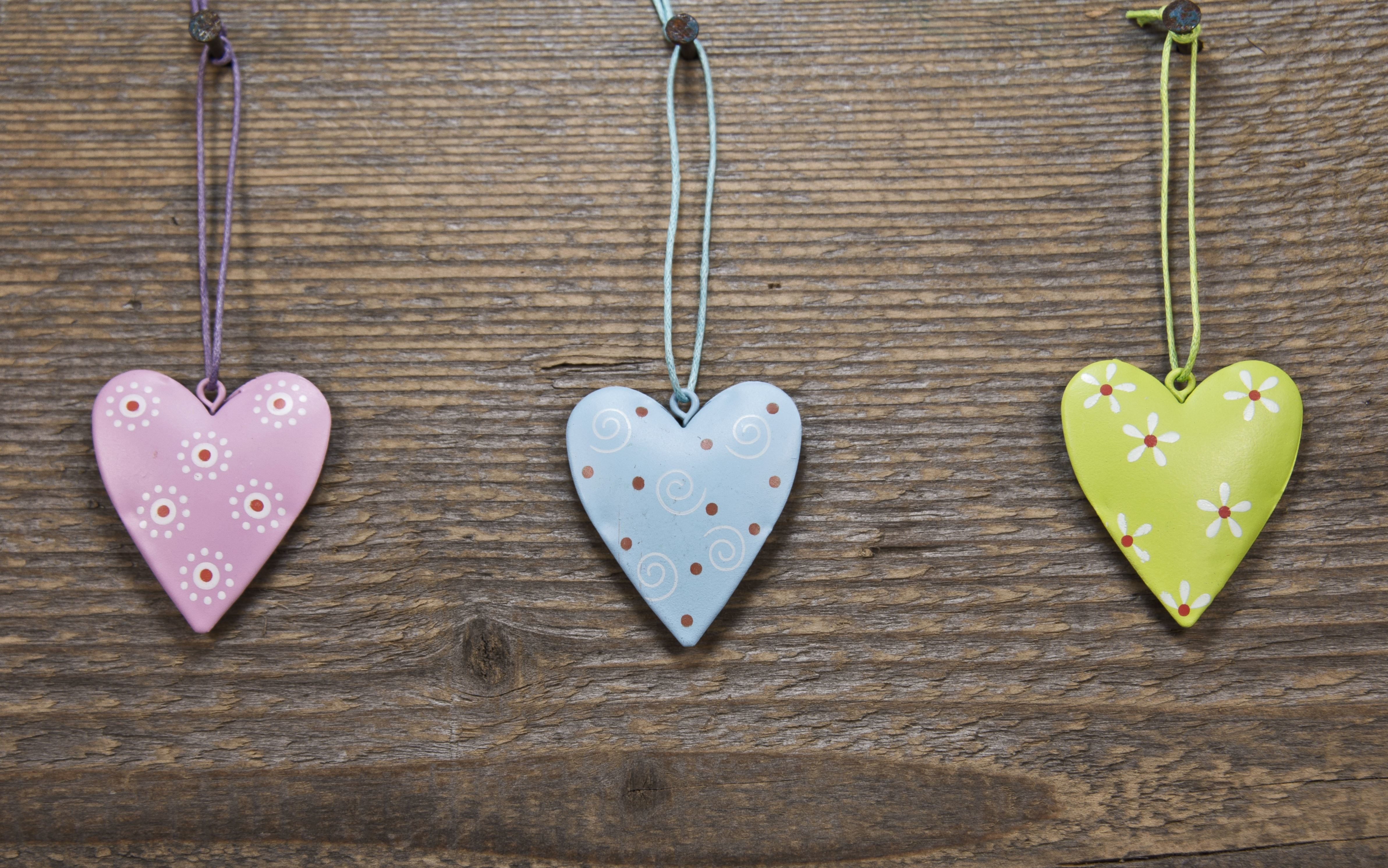 Free Picture Hearts Love Wood Decoration Design