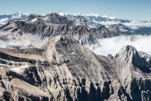 Snow, reizen, vallei, winter, wolken, koude, bergen, natuur