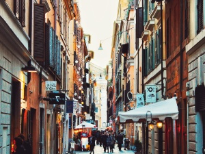 Městská, architektura, stavby, město, lidé, obchod, ulice